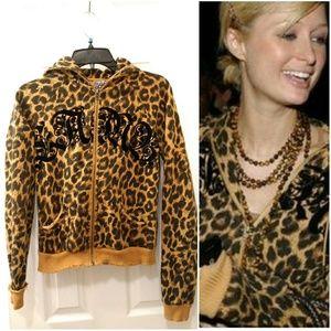 L.A.M.B leopard print designer hoodie